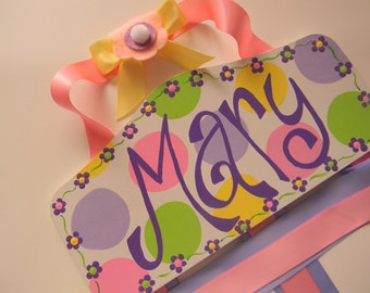 Plaque Style Hair Bow Holder-  Personalized