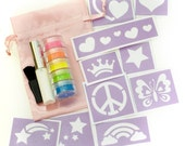 Peace, Love and Sparkles Glitter Tattoo Kit