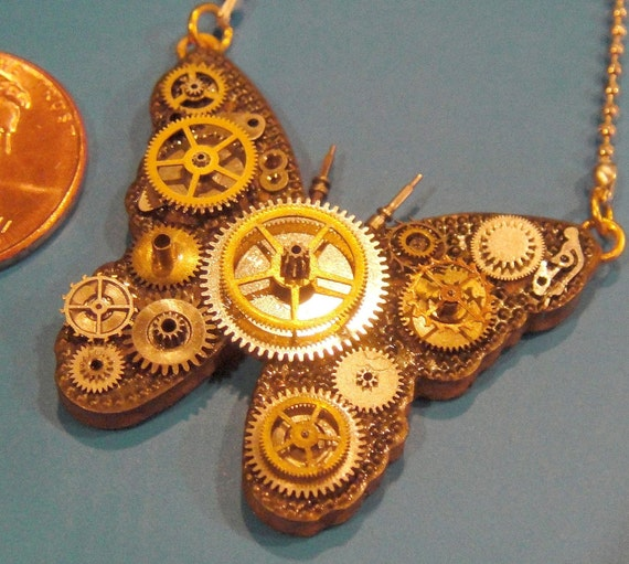 Micro-Mechanical Butterfly Necklace