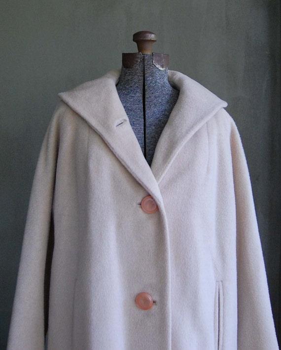 vintage winter white mohair coat