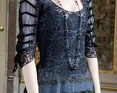 Titanic 1900s Downton Abbey Edwardian Mary Evening Gown Dress RESERVED for Kiserai 2nd Payment
