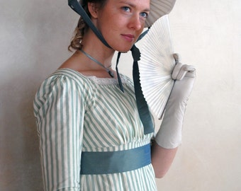 CUSTOM The Seashore Striped Regency dress in striped cotton of your choice