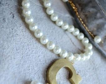 Anne Boleyn B Ugly Betty Reproduction necklace Custom Letter