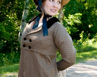 Regency Jane Austen dress Spencer Jacket Pelisse CUSTOM made in your choice of colors & fabrics
