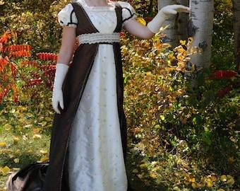 CUSTOM Empress Josephine Regency Wedding Ball gown dress & pelisse