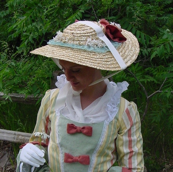 18th Century Rococo Colonial Dinnerplate Straw hat CUSTOM