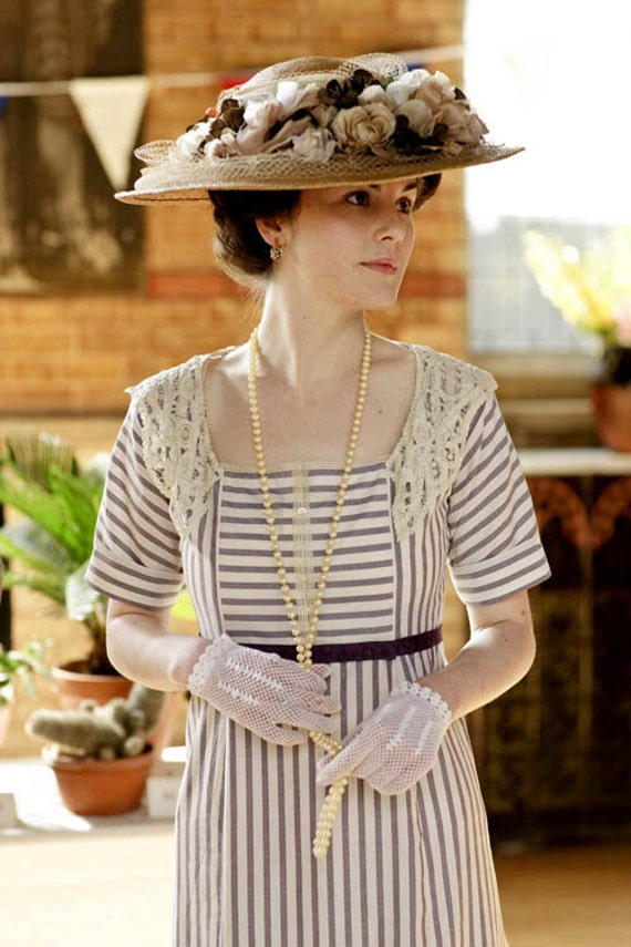 Titanic 1900s Downton Abbey Edwardian Mary Day Tea Gown Dress RESERVED for Kiserai 2nd Payment