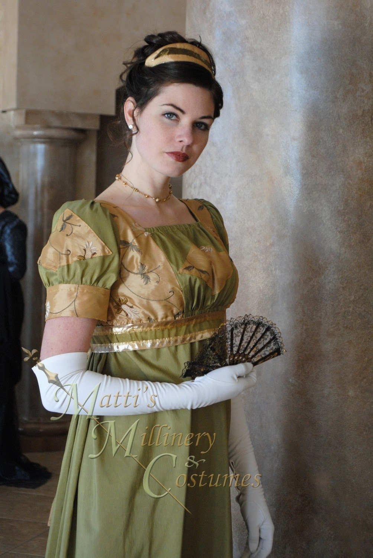 Custom Diamond Evening Formal Regency Jane Austen Ball Gown