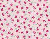 Pam Kitty Morning, Lakehouse, Rose & Posie Vines in Pink, HALF YARD