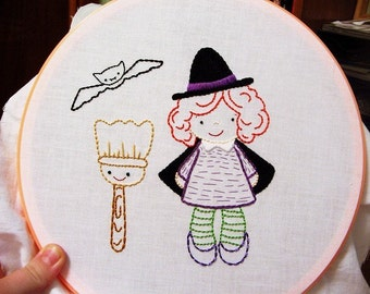 Annie Oakleaves, Halloween Cuties Collection, PDF Embroidery Patterns
