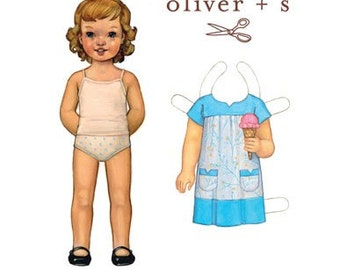CLEARANCE, OLIVER and S, Ice Cream Dress, 5 years to 12 years, Sewing Pattern