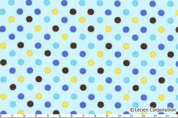 Japanese, Lecien Color Basics, Blue and Yellow Polka Dots, 4506-LZ, 1/2 yard