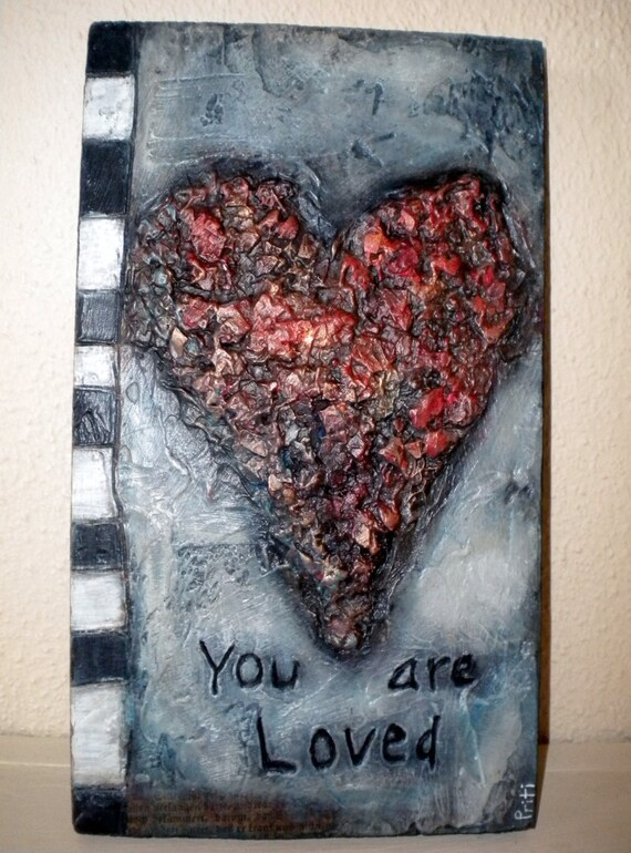 Mixed-media Painting You are Loved