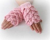Fingerless Gloves , Pink, Pastel, Rose, Trendy, Girly, Teenie, Women, Flower