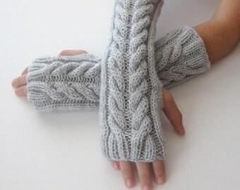 Fingerless Gloves - Gray, Grey