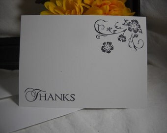 Thank You Cards (Set of 10) - Floral Swag