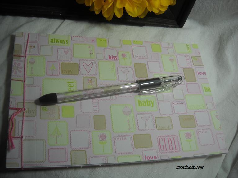 sale girl baby shower guest book keepsake album and pen set