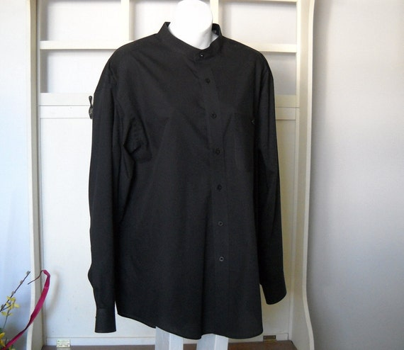 Yves Saint Laurent Black Men's Shirt 17 34-35