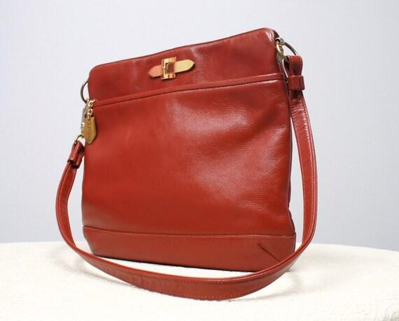 Handbag Vintage Supreme Cognac 1970's Shoulder Bag Purse