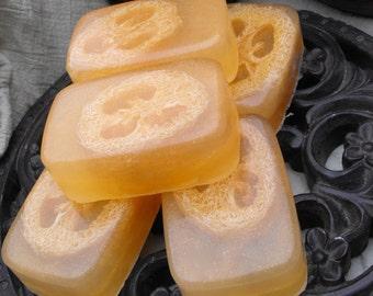 Lemongrass Loofa Soap with Honey glycerin