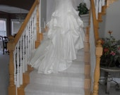 """Two tier  circular 120"""" Cathedral Wedding Veil white, ivory or diamond"""