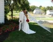 Single layer cathedral elegant wedding veil 108 white, ivory or diamond READY TO SHIP