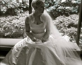 Bride Veil 108 cathedral Single layer white, ivory or diamond