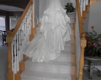 "Two tier  circular 108"" cathedral  w/ blusher Wedding  Bridal Veil"