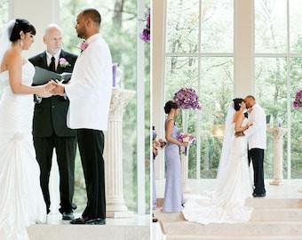 Straight Ankel length Wedding Bridal Veil 60 inches white, ivory or diamond