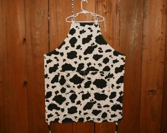 Apron, Reversible, Cow Print