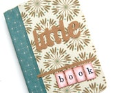 Altered Journal Composition Book gift tracker to do mini journal mini notebook Little Blank Book