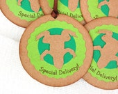 Baby Boy Shower Gift Tags, set of 6 green frog gift tags baby announcement shower favor tags