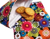 Reusable Sandwich and Snack Bag Set-Oilily Style Flowers