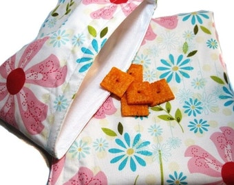 Sweet Divinity Floral Sandwich and Snack Bag Set, Reusable