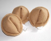 Felt Food- 3 Fortune Cookies set-Childrens toys-Kitchen toys-Soft Toys-Play kitchen toys-Play Food-Toddler toys-Felt Toys-Toy food