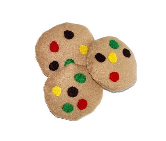 Felt Food- 3 mm Cookies-play food-Childrens toys-Kitchen toys-Soft Toys-Play kitchen toys-Toddler toys-Felt Toys-Toy food
