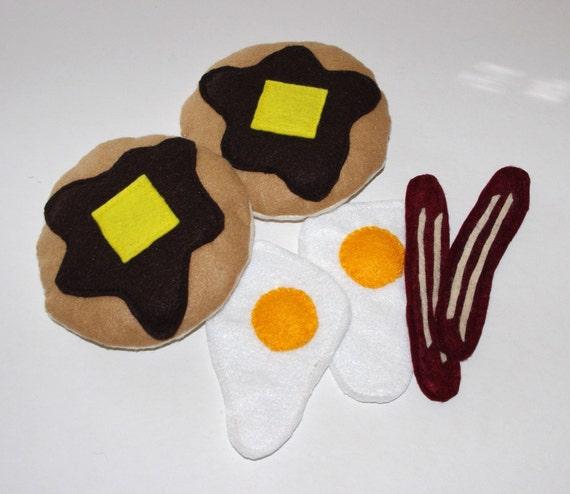Felt Food- Breakfast Set-play food-breakfast-Childrens toys-Kitchen toys-Soft Toys-Play kitchen toys-Toddler toys-Felt Toys-Toy food
