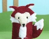Fox Felt Finger Puppet