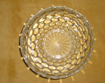 Vintage Anchor Hocking CLEAR Bubble Serving Bowl 8 Inch