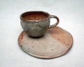 Shino Cup and Saucer