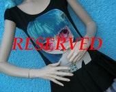 RESERVED Dark Distressed Gothic Blue Haired Waif Big Eyed Alice Babydoll Lolita Ragdoll Sweet Urchin Dolly Dress