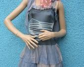 Zombie Blue Elfin Alice Gothic Gloomy Faerie Lolita Ragdoll Urchin Steampunk Dolly Dress