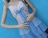 Erstwhile Edwardian Alice Gothic Circus Striped Lolita Steampunk Sailor Dolly Urchin Zombie Dress