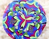 LARGE Polymer Clay Kaleidoscope Cane, Raw, Unbaked