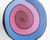 Polymer Clay Spiral Rainbow Cane