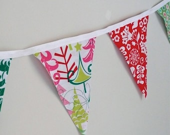Festive and Bright Christmas Bunting Banner