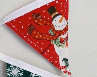 Mini Snowman Christmas Bunting Banner