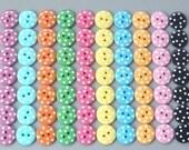 70(pcs) Round Swiss Dot Buttons 10 Color EB1