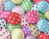 50 Padded Satin Dot Round Center Appliques EA176