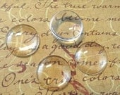 20 Clear Glass Cabochon Dome...18mm...Cameo...Transparent...N23